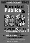 Cartel. Semana Europea de Lucha en Defensa de los Servicios Públicos. León, 6 oct. 2012.