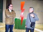 El concejal leonés de Cultura, Javier Chamorro y Diego Segura (dcha) durante presentac de la obra. León, 15 oct. 2010. Leonoticias.com.