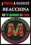 Cartel. Convocatoria del 22M. Madrid, 22 mayo 2014.