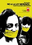 Cartel de la CGT contra le Ley Mordaza. 25 enero 2015.