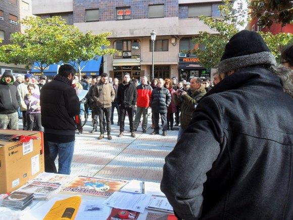 Concentración contra la Ley Mordaza. Ponferrada, 25 enero 2015. Foto: Enrique L. Manzano.