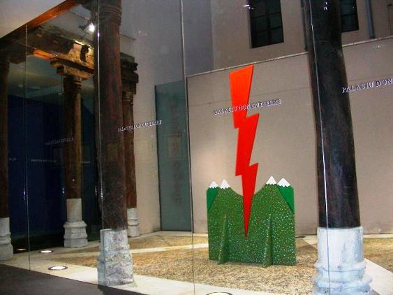Damocles 88-800K. Escultura de Diego Segura. León, 15 oct. 2010.