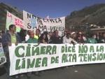 Manifestación en Ciñera contra la línea Sama-Velilla.