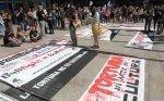 Protesta antitaurina en La Coruña. 5 agosto 2013.