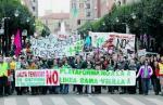 Una movilización vecinal contra la línea Sama- Velilla en la provincia de León.