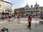 Aspecto de la plaza Mayor al finalizar la marcha del 15M. Ponferrada, 12 mayo 2012. Foto: Enrique L. Manzano.