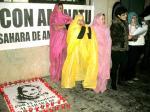 Apoyo a Aminetu Haidar. Ponferrada, 16 dic. 2009. Foto: Enrique L. Manzano.