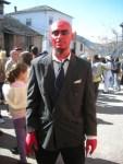 Un diablo en el carnaval de Lago de Carucedo. 6 marzo 2011. Foto: Enrique L. Manzano.