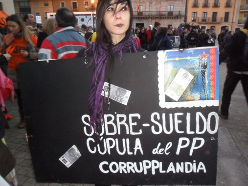'Corrupplandia. Ponferrada, 23 febr. 2013. Foto: Enrique L. Manzano.