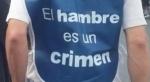 'El hambre es un crimen'. Fuente: adital.com.br.