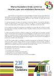 Manifiesto. Marea Ciudadana Unida contra los recortes y por una verdadera Democracia. 16 dic. 2012. Unecologistaenelbierzo.wordpress.com.