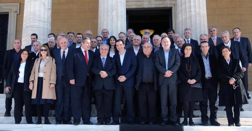 Primera reunión del gabinete griego de Alexis Tsipras. Atenas, enero 2015. Syriza.gr.