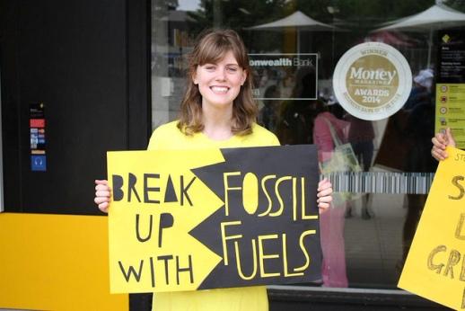 Protesta contra los combustibles fósiles. Camberra (Australia). 13 febr. 2015. 350.org.