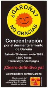 Concentración por el cierre de Garoña. Burgos, 28 marzo 2015.