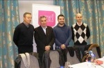 Agustín Raimúndez, José Manuel Vidal, Adrian Álvarez y Sadat Maraña (de izq. a dcha), candidatos en 2011. Ponferrada, 29 dic. 2010. Lacronica.es. Foto: S. B.
