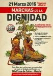 Cartel. Marchas de la Dignidad. Madrid, 21 marzo 2015.