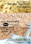 Cartel. Taller Elaboración de Bebidas Vegetales Ecológicas. Ponferrada, 25 marzo 2015.