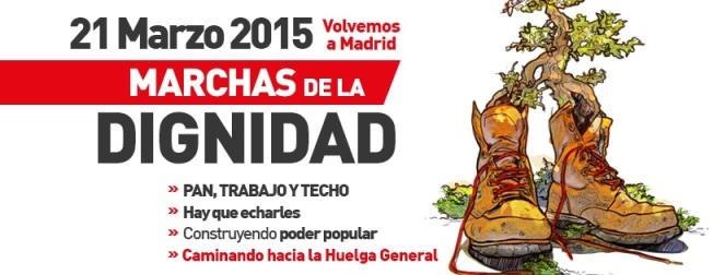 Marchas de la Dignidad. Madrid, 21 marzo 2015.