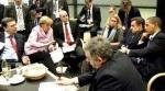 Obama, Sarkozy, Merkel y otros líderes mundiales en la Cumbre del Clima de Copenhague.  7 - 18 dic. 2009.
