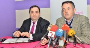 Rafael Delgado y Manuel Ángel Morales. Ponferrada, 13 enero 2015. Fuente: leonoticias.com. Foto Quinito.