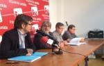 Rueda de prensa de IU y Ecologistas en Acción exigiendo la imputación de Santos Llamas. 18 febr. 15. Iucyl.es.