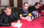 Germán Valcárcel, 'Fito' Vázquez (IU), Jose Luis Lamana y Enrique López Manzano (Ecobierzo). Ponferrada, 10 febrero 2012. Bierzocomarca.eu. Foto: Ricardo L. Témez