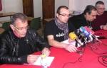 Germán Valcárcel, 'Fito' Vázquez, Jose Luis Lamana y Enrique López Manzano (Ecobierzo). Ponferrada, 10 febrero 2012. Bierzocomarca.eu. Foto: Ricardo L. Témez