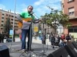 Actuación musical del cantante Rafaria Montecristo. Ponferrada, 1 mayo 2013. Foto: Enrique L. Manzano.
