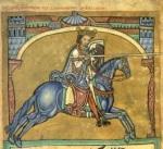 Alfonso IX en una miniatura del Tumbo A de la catedral de Santiago de Compostela. Wikipedia.org.