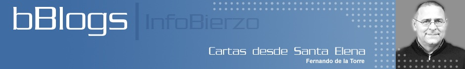 Cebecera del blog 'Cartas desde Santa Elena', de. Fernando de la Torre. 2012. Infobierzo.com.