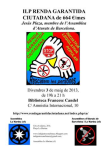Conferencia sobre la renta básica. Barcelona, 3 mayo 2013.