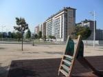 El único parque infantil en el extenso barrio de La Rosaleda. 1 jun. 2012. Foto: Enrique L. Manzano.