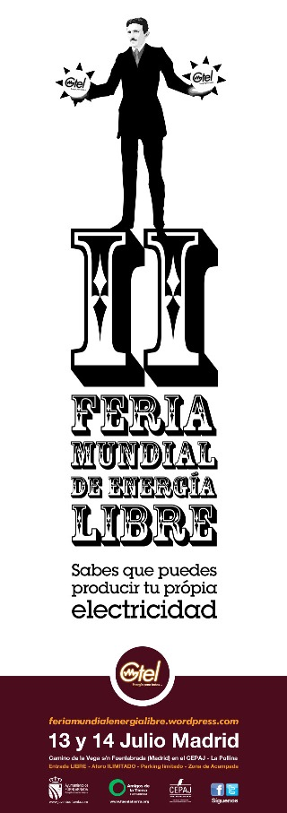 II Feria Mundial por la Energía Libre. Fuenlabrada, 13-14 julio 2013.