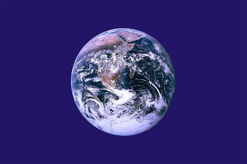 La bandera de la Tierra. Wikimedia.org.