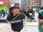 Manifestante en el Primero de Mayo. Ponferrada, 1 mayo 2013. Foto: Enrique L. Manzano.