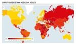 Mapa de la corrupción 2014. Transparency.org.