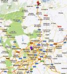 Mapa de situación de La Cabrera (Madrid).