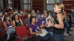 Noemí Santana durante una asamblea de Podemos celebrada en Las Palmas de Gran Canaria. 2015. Eldiario.es.