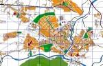 Plano urbano de Ponferrada. 2011.