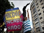 Protesta contra la censura en Venezuela. Bbc.co.uk.