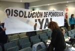Protesta vecinal en el pleno municipal de Ponferrada ¡Disolución de Pongesur ya!