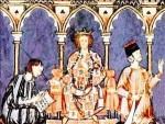 Una representación del rey de León Alfonso IX. Lacronicadeleon.es.
