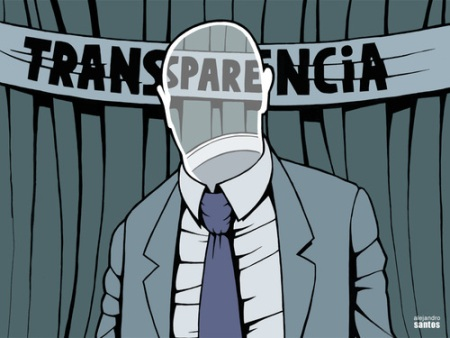 Viñeta. 'Transparencia'. Fuente bomberos.forum2.biz. Autor: Alejandro Santos.