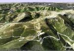 Vista aérea del Morredero y de las pistas de esquí proyectadas. 2012.
