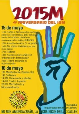 4º aniversario 15M. Madrid, 15-16mayo 2015. Tomalaplaza.net.