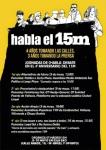 15M. Acto informativo 'Habla el 15M'. Madrid, 9-10 mayo 2015.
