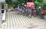 Aparcamiento de bicicletas en una guardería de Hamburgo. Pedaleandoenvalencia.blogspot.com.es.