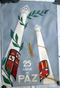 Cartel. XXV años de Paz. 1964. Cartelestransicion.blogspot.com.es.