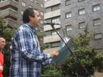 El sindicalista Ursicinio Sánchez durante su intervención. Primero de Mayo. Ponferrada., 1 mayo 2015. Foto: Enrique L. Manzano.