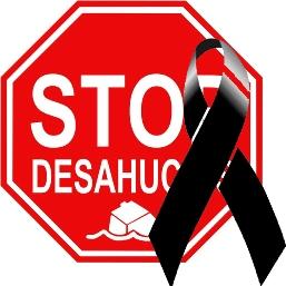 Logo. Stop Desahucios de luto. Fuente: afectadosporlahipoteca.wordpress.com.